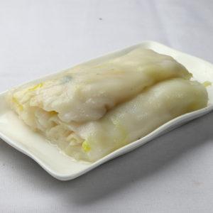 fish & golden chive rice noodle rolls